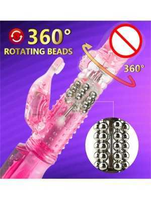 10 Speeds Vagina Vibration & G Spot Dildo Rabbit