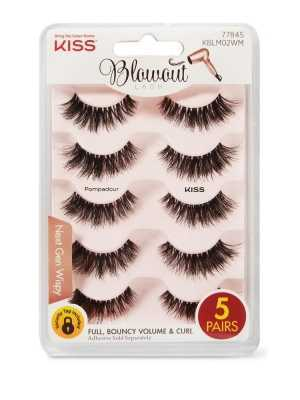 KISS Eyelashes Pompadour Multi-Pack contains 5 pairs Blowout Lash, Pompadour (KBLM02)
